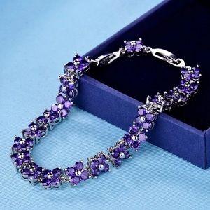Jewelry - Purple Amethyst Crystal Chain Bracelet